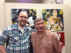 Rob Schamberger (L) with Jerry Brisco.