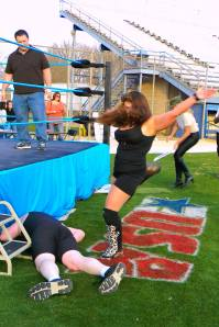 Did I mention kicking? Credit Nikki Eveland